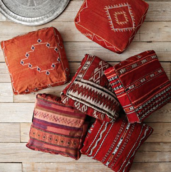 Brand-new Moroccan pouf, or is it a floor cushion? - Modernist   Desi McKinnon GN01